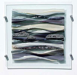 Siobhan Jones Designer Glass Fused Glass Seascape Wall Panel